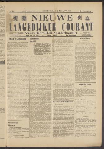 Nieuwe Langedijker Courant 1933-03-02