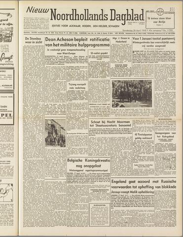 Nieuw Noordhollandsch Dagblad : voor Alkmaar en omgeving 1949-04-28