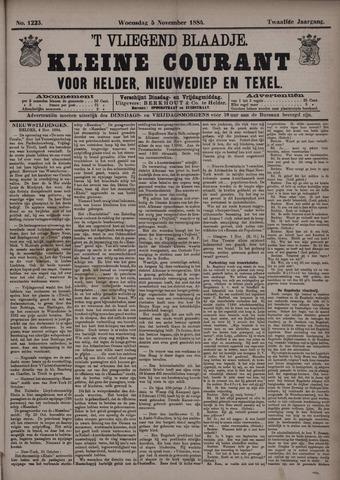 Vliegend blaadje : nieuws- en advertentiebode voor Den Helder 1884-11-05