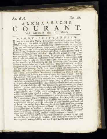 Alkmaarsche Courant 1806-03-10