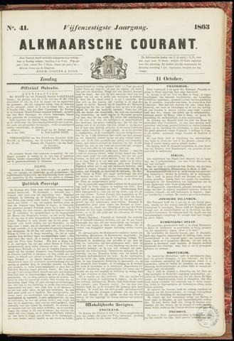 Alkmaarsche Courant 1863-10-11