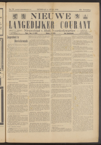 Nieuwe Langedijker Courant 1933-07-04