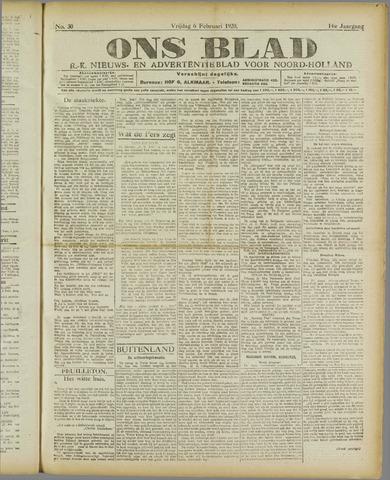 Ons Blad : katholiek nieuwsblad voor N-H 1920-02-06