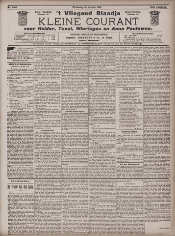 Vliegend blaadje : nieuws- en advertentiebode voor Den Helder 1903-10-28