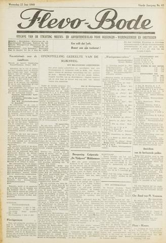 Flevo-bode: nieuwsblad voor Wieringen-Wieringermeer 1949-06-22