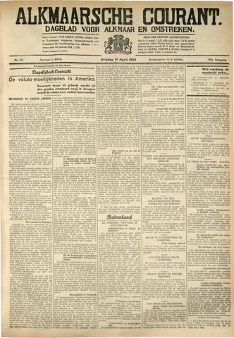 Alkmaarsche Courant 1933-04-21