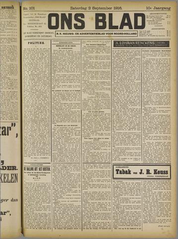 Ons Blad : katholiek nieuwsblad voor N-H 1916-09-02