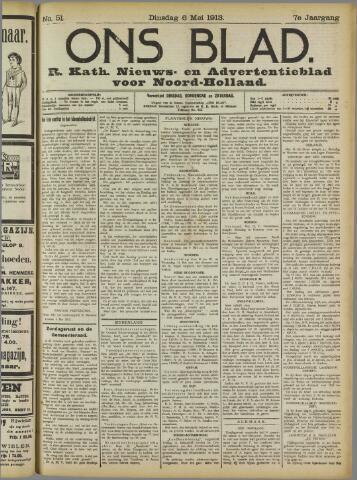 Ons Blad : katholiek nieuwsblad voor N-H 1913-05-06