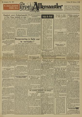 De Vrije Alkmaarder 1948-02-20