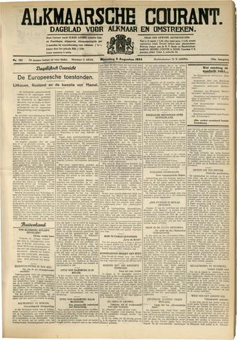 Alkmaarsche Courant 1934-08-06