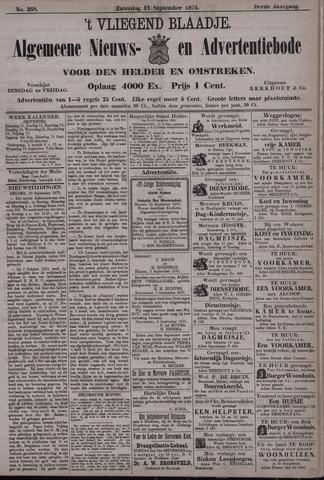 Vliegend blaadje : nieuws- en advertentiebode voor Den Helder 1875-09-11