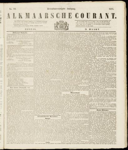 Alkmaarsche Courant 1875-03-21