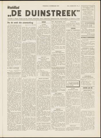 De Duinstreek 1953-02-13