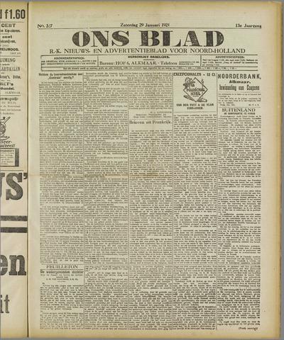 Ons Blad : katholiek nieuwsblad voor N-H 1921-01-29
