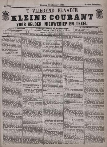 Vliegend blaadje : nieuws- en advertentiebode voor Den Helder 1880-10-12