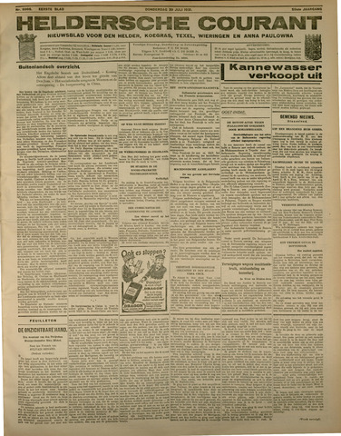 Heldersche Courant 1931-07-30