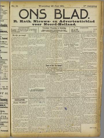 Ons Blad : katholiek nieuwsblad voor N-H 1911-06-28