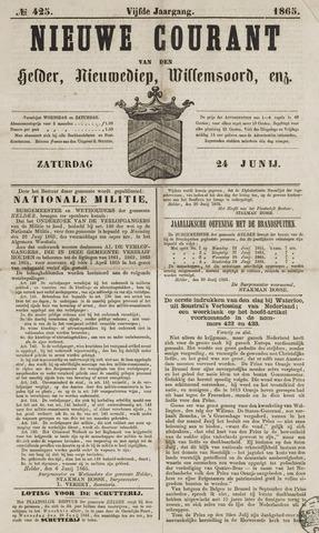 Nieuwe Courant van Den Helder 1865-06-24