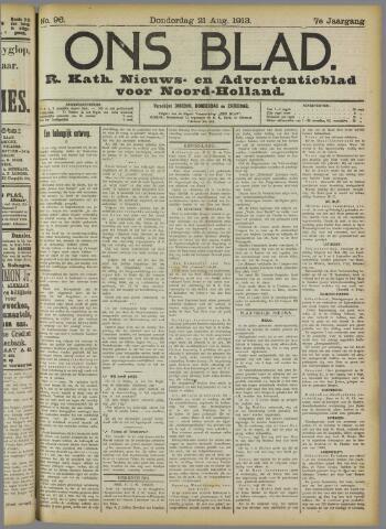 Ons Blad : katholiek nieuwsblad voor N-H 1913-08-21