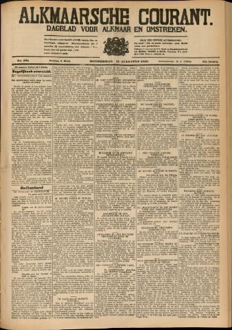 Alkmaarsche Courant 1930-08-21