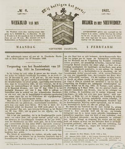 Weekblad van Den Helder en het Nieuwediep 1857-02-02