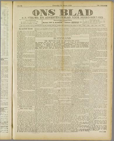 Ons Blad : katholiek nieuwsblad voor N-H 1920-03-20