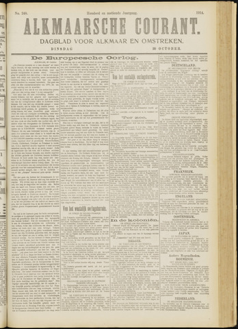 Alkmaarsche Courant 1914-10-20