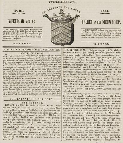 Weekblad van Den Helder en het Nieuwediep 1844-06-10
