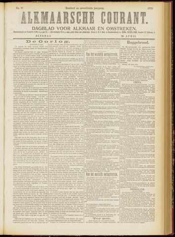Alkmaarsche Courant 1915-04-20