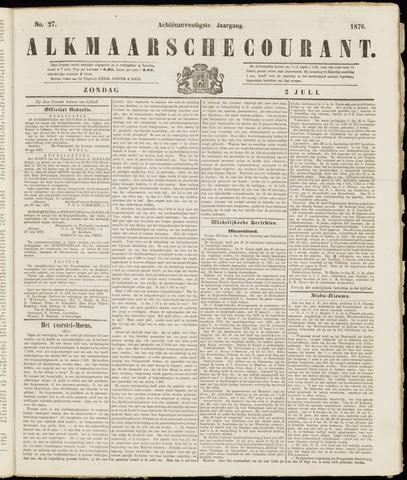 Alkmaarsche Courant 1876-07-02