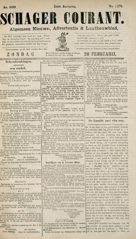 Schager Courant 1881-02-20