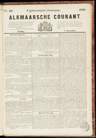 Alkmaarsche Courant 1863-11-08