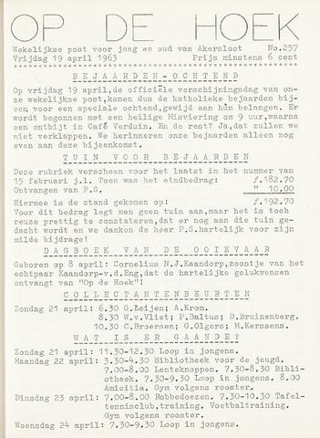 Op De Hoek, weekblad voor Akersloot 1963-04-19