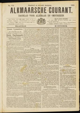Alkmaarsche Courant 1905-10-16