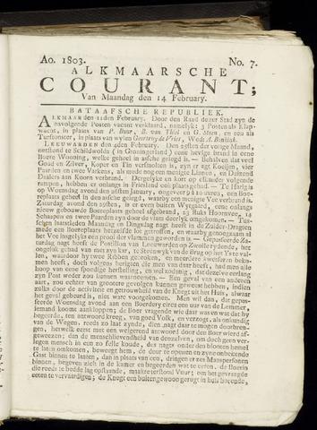 Alkmaarsche Courant 1803-02-14