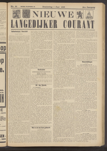 Nieuwe Langedijker Courant 1926-06-03