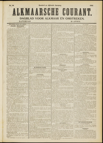 Alkmaarsche Courant 1913-04-19