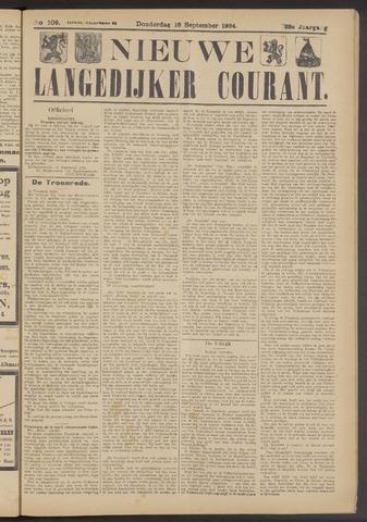 Nieuwe Langedijker Courant 1924-09-18