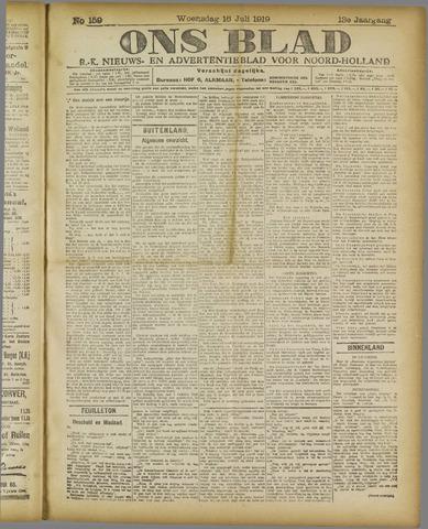 Ons Blad : katholiek nieuwsblad voor N-H 1919-07-16