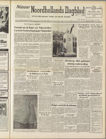 Nieuw Noordhollandsch Dagblad : voor Alkmaar en omgeving 1950-09-01