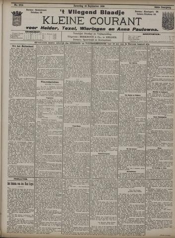 Vliegend blaadje : nieuws- en advertentiebode voor Den Helder 1908-09-12
