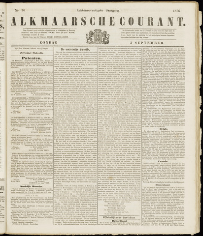 Alkmaarsche Courant 1876-09-03