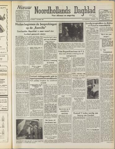 Nieuw Noordhollandsch Dagblad : voor Alkmaar en omgeving 1947-12-08