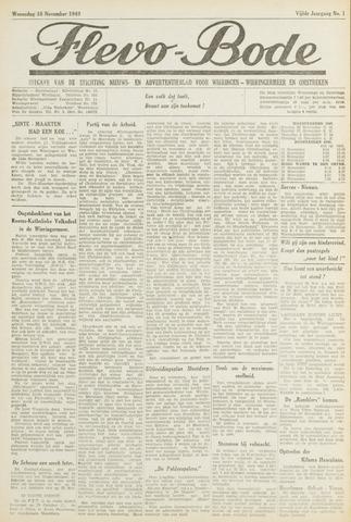Flevo-bode: nieuwsblad voor Wieringen-Wieringermeer 1949-11-16