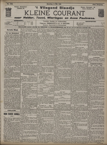 Vliegend blaadje : nieuws- en advertentiebode voor Den Helder 1909-05-15