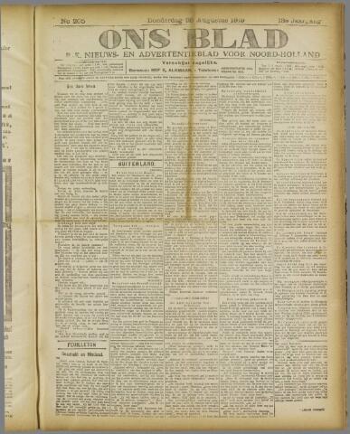 Ons Blad : katholiek nieuwsblad voor N-H 1919-08-28