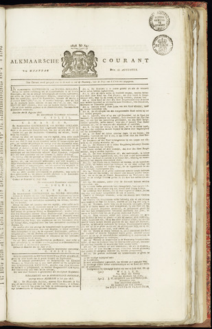 Alkmaarsche Courant 1828-08-18