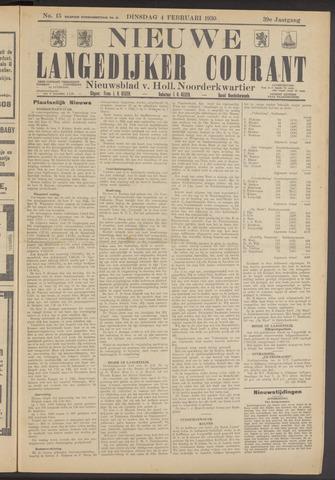 Nieuwe Langedijker Courant 1930-02-04
