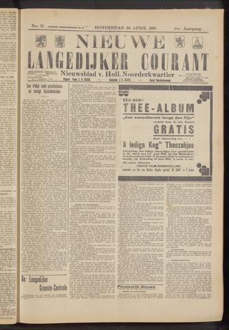 Nieuwe Langedijker Courant 1931-04-30