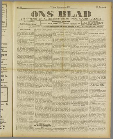 Ons Blad : katholiek nieuwsblad voor N-H 1920-08-13